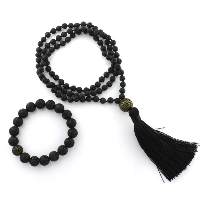 lave bead necklace lava stone