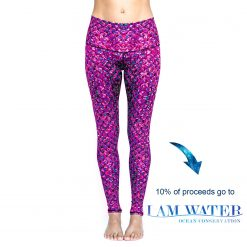spirit girl angel fish full length yoga leggings