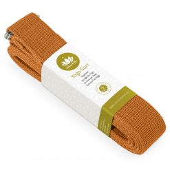 lotuscrafts yoga belt terra orange