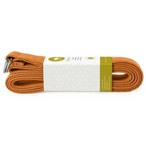 lotuscrafts yoga belt terra orange