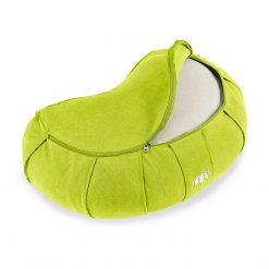 lotuscrafts crescent zafu mediation cushion bamboo green