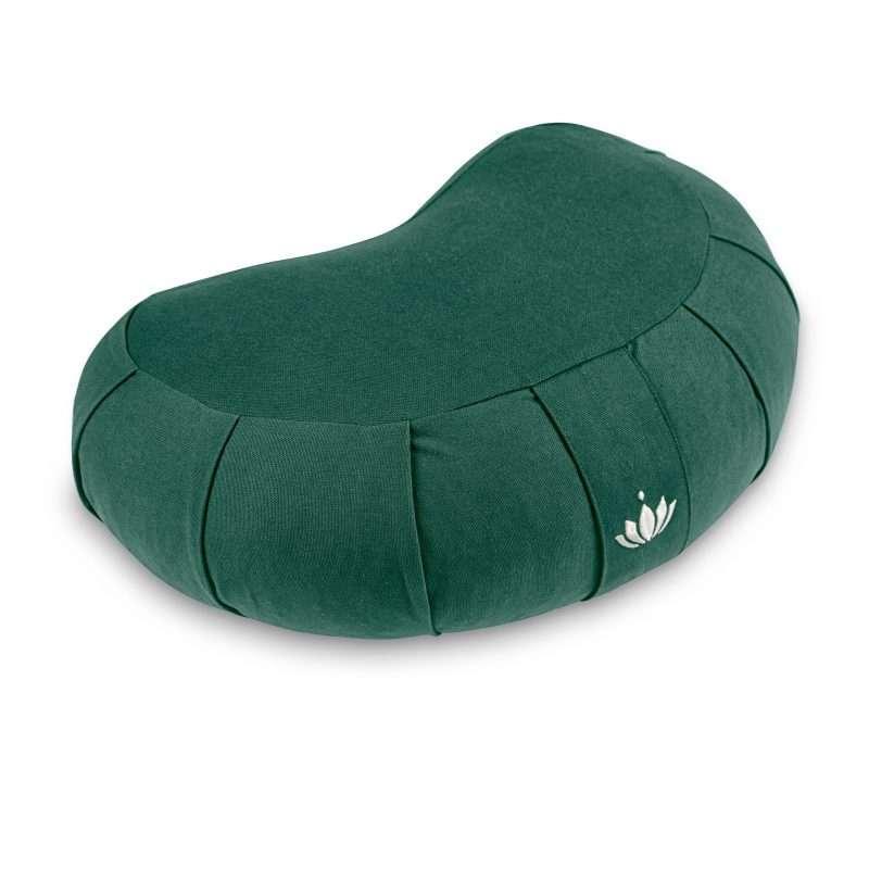 lotuscrafts crescent zafu mediation cushion forrest green