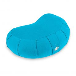 lotuscrafts crescent zafu mediation cushion petrol blue