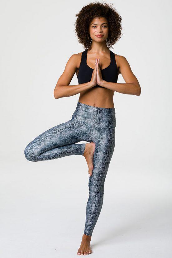 onzie full length high rise yoga legging cobra