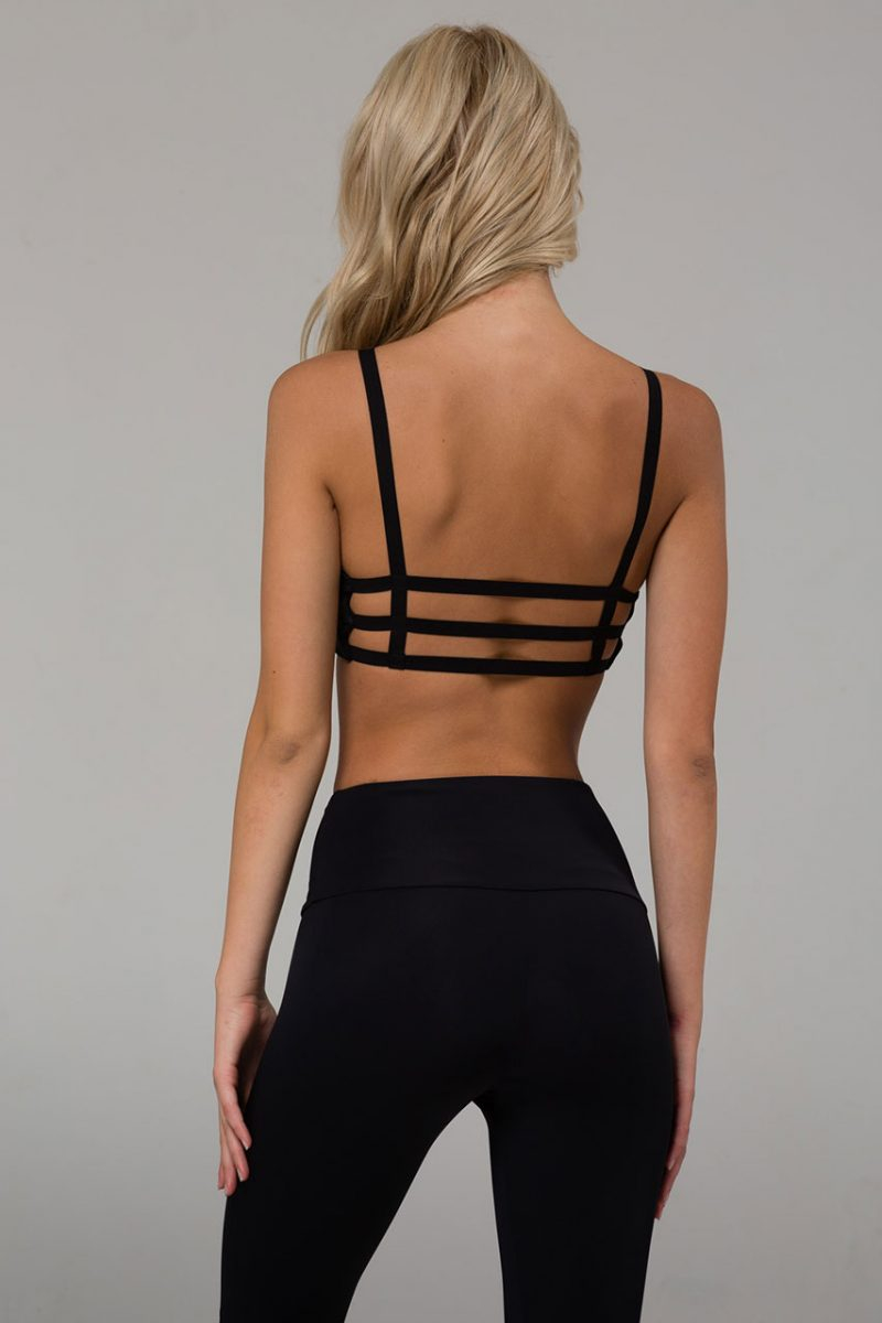 onzie elastic bra top black yoga