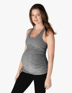 beyond yoga travel racerback maternity black white