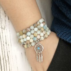 mala bead necklace howlite