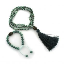 mala bead necklace malachite