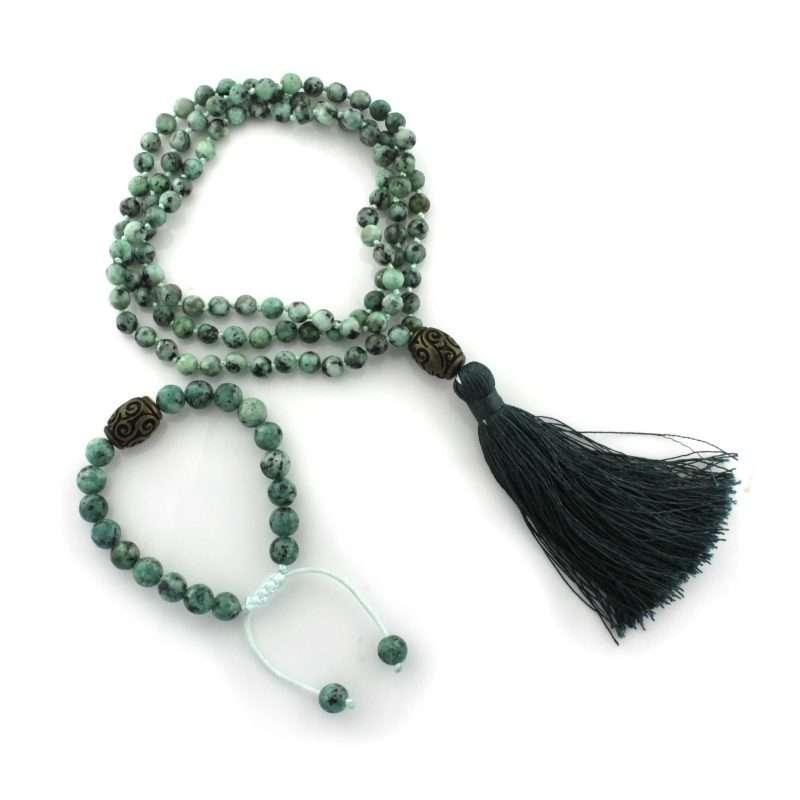 mala bead necklace malachite