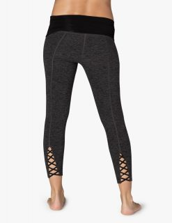 beyond yoga fold down maternity capri leggings