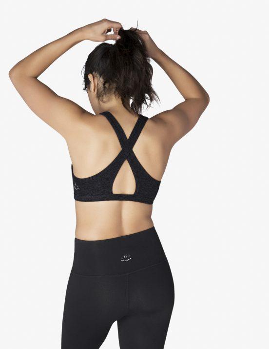 beyond yoga studio bra sports darkest night black