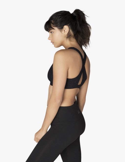 beyond yoga studio bra sports darkest night black
