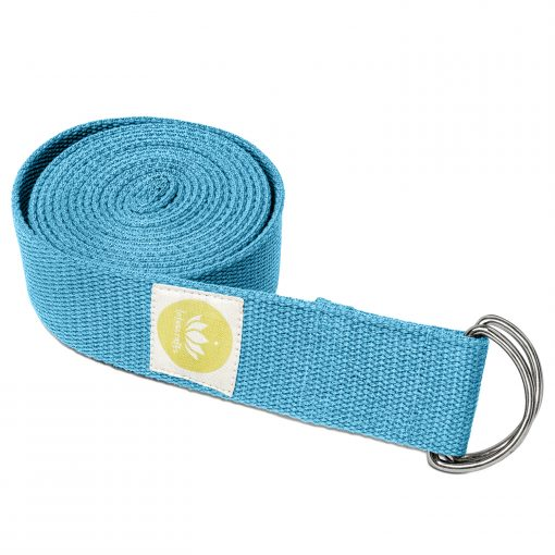 lotuscrafts yoga belt petrol blue