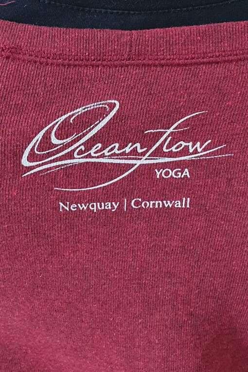 Oceanflow Yoga Wear Jumper Meditating Mermaid Dark Red