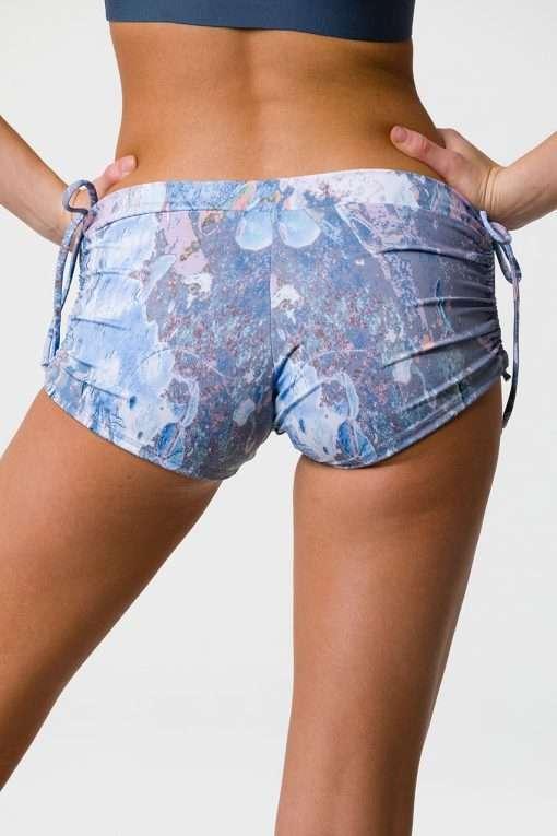Onzie side tie yoga shorts love stone