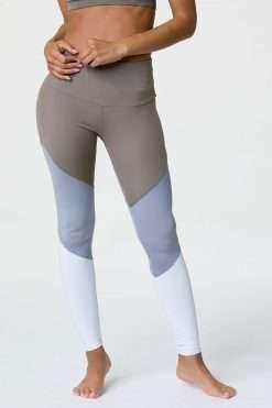 onzie full length yoga leggings dust fossil combo
