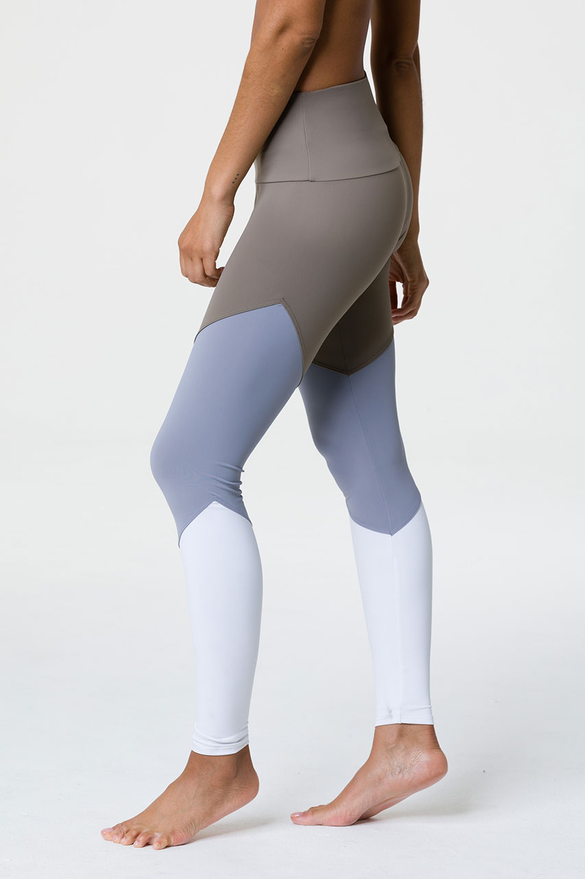 6c302eaea5 Onzie Full Length Track Yoga Leggings – Dust Fossil | Yoga Emporium
