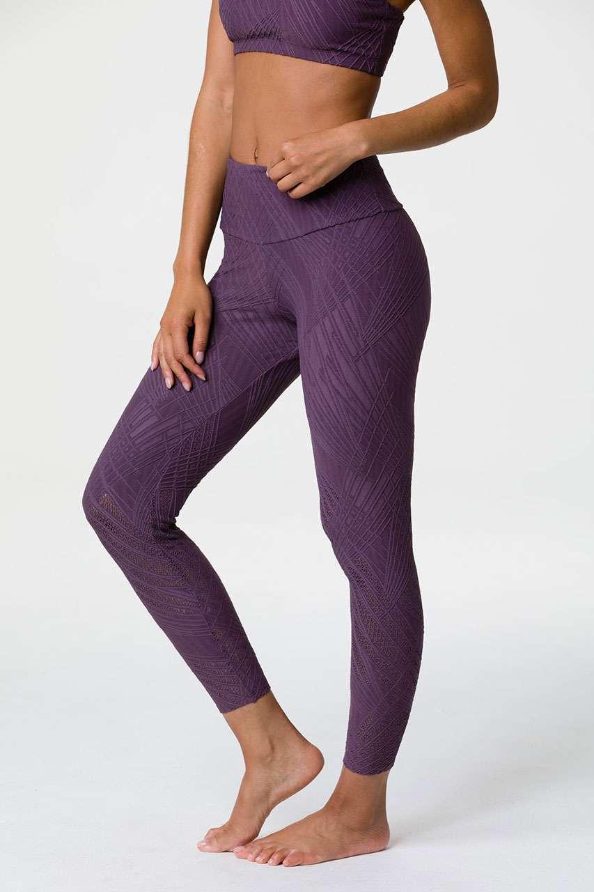 f6262f9ef3d00d Onzie HIGH Rise Selenite Midi 7/8 Yoga Leggings – Purple Haze | Yoga ...