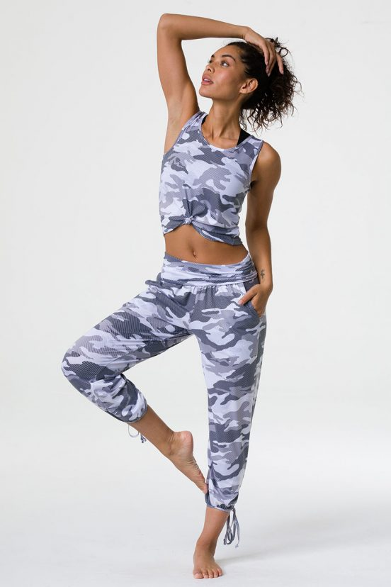 Onzie yoga gypsy festival pants dust camo