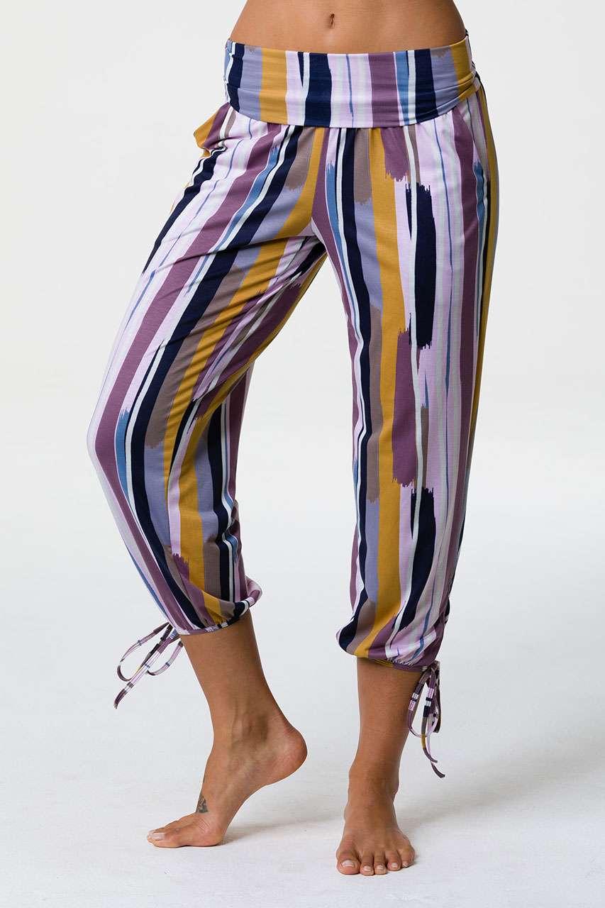 fc1f0e70b8e47 Onzie Gypsy Pants – Lilac Stripe | Yoga Emporium