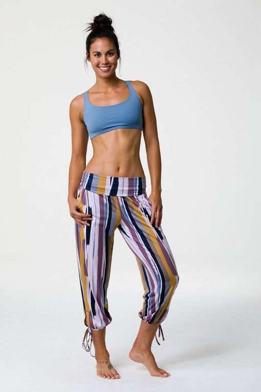 onzie lilac gypsy pants lilac stripe