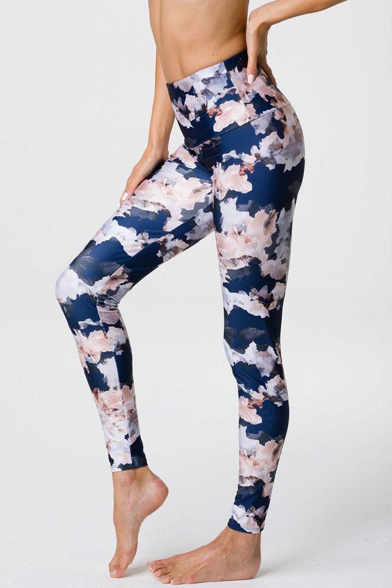 Onzie full length yoga leggings nomad blossom