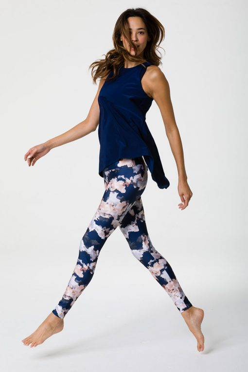 Onzie full length yoga leggings nomad blossom