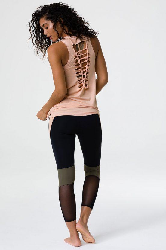 onzie braid back tank caramel kiss yoga