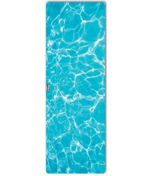leus hot yoga towel aqua