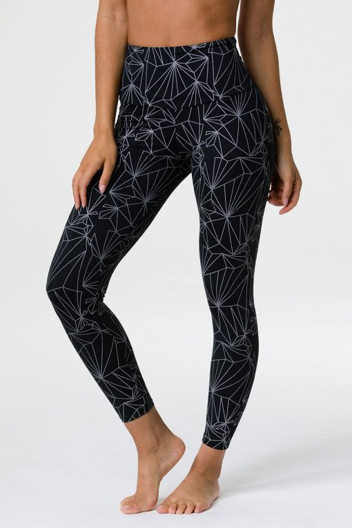 onzie high rise midi yoga leggings reflective