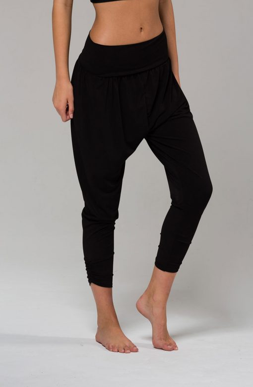 Onzie harem yoga pants black