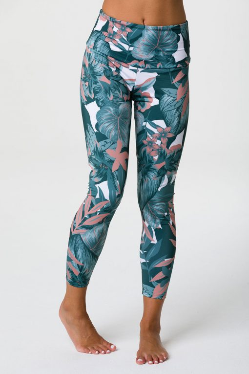 onzie tropical camo high rise midi yoga leggings