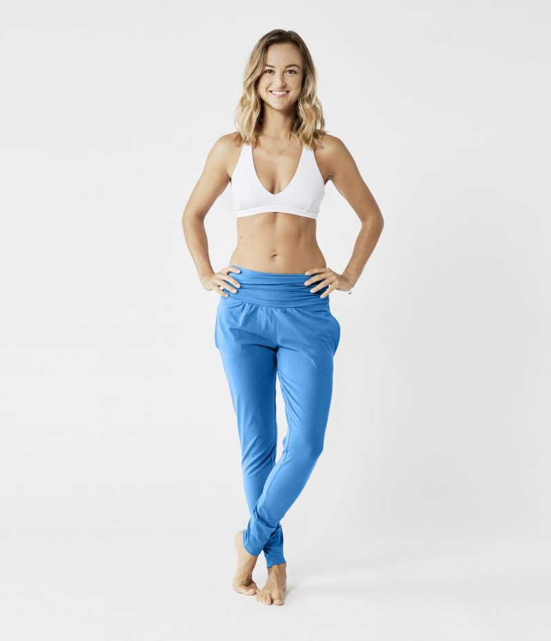 lotuscrafts yoga pants bright blue