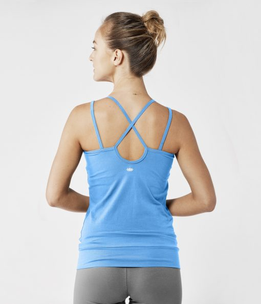lotuscrafts yoga top bright blue