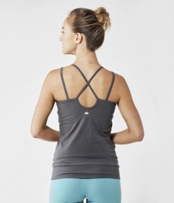 lotuscrafts yoga top graphite grey