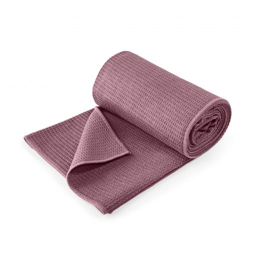 lotuscrafts hot yoga towel aubergine