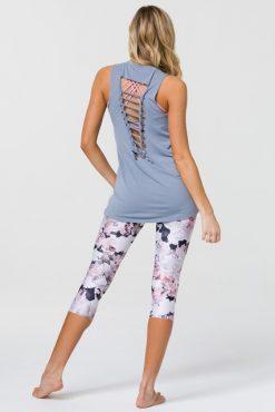 onzie fossil braid back yoga top