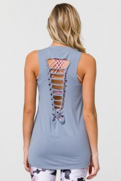 onzie fossil braid back yoga top