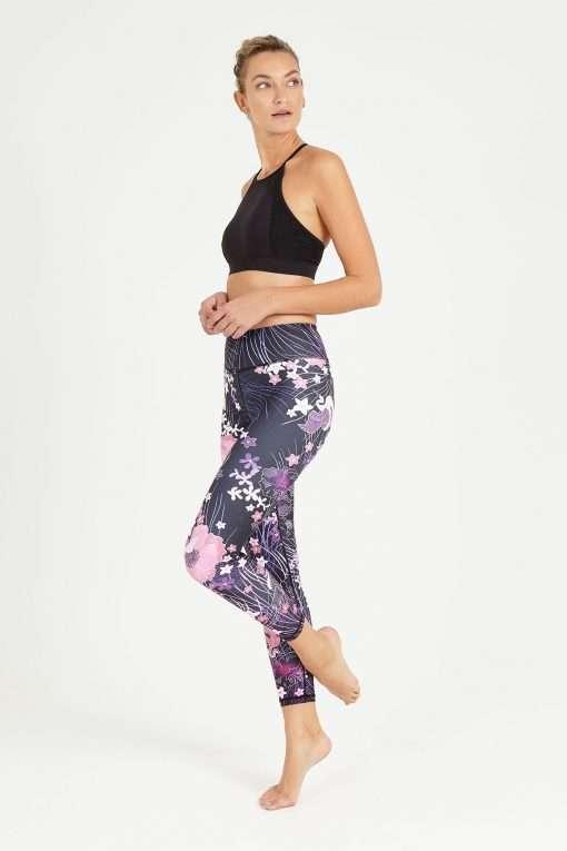 dharma bums akiko midi high waisted yoga leggings