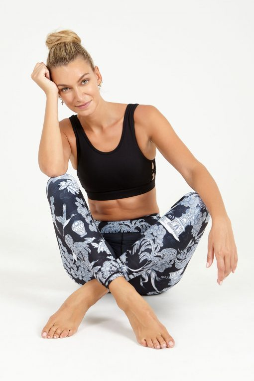 dharma bums eastern opulence high waisted midi yoga leggings