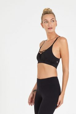 dharma bums noughts and crosses yoga bra black