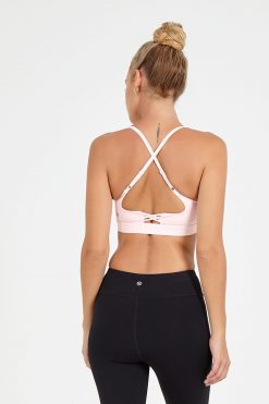 dharma bums noughts and crosses yoga bra blush