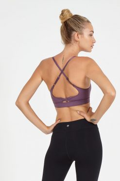 dharma bums noughts and crosses yoga bra dusk