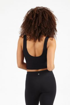 dharma bums black crop yoga tee