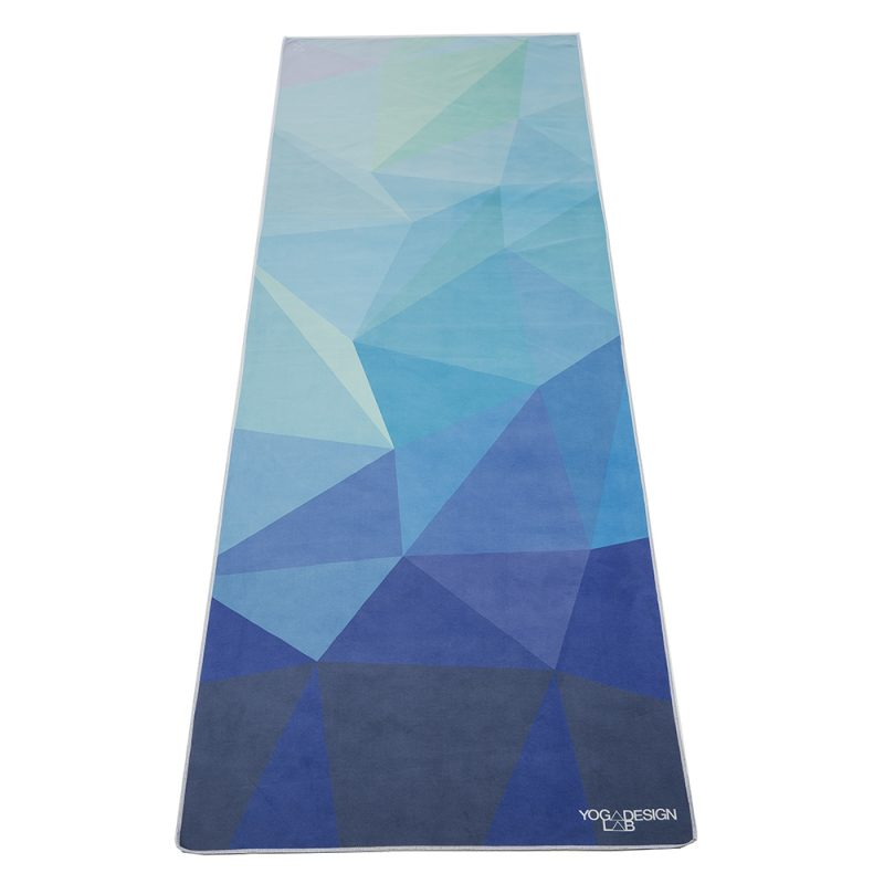 yoga design lab hot yoga towel geo blue