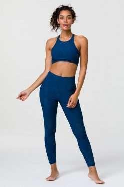 onzie deep petrol selenite midi yoga leggings
