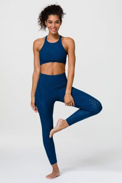 onzie deep petrol selenite midi yoga leggings