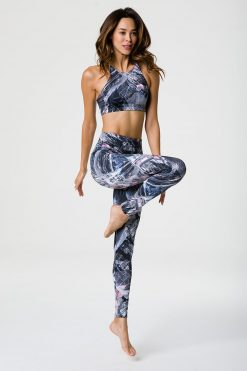onzie high waisted full length yoga science fiction leggings