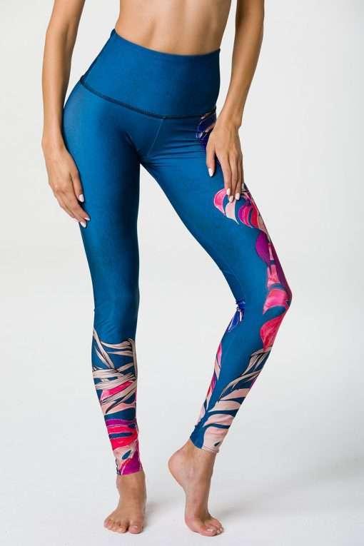 onzie high waisted full length boca yoga leggings