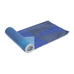 yoga design lab yoga towel geo blue